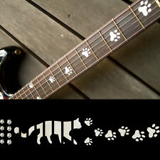 Cats Foot Print (White Pearl) Fretboard Markers Inlay Sticker Vinyl Decal Guitar