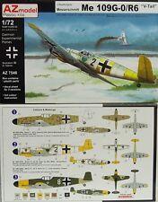 """Me-109 G-0 / R6 """"V-Tail"""",1:72, AZ Model, Plastikmodellbausatz,*NEU*"""
