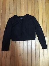 Jessica Howard M Black Shrug Viscose Nylon Long Sleeve Sweater Knit Euc