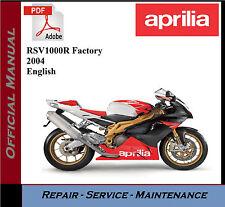 Aprilia RSV1000R Factory 2004 Workshop Service Repair Manual