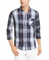 Levi's Mens Shirt Blue Size Medium M Button Down Longsleeve Plaid $54 #172
