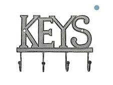 Western Rustic Key Holder For Wall Vintage Hanger Rack Hook Organizer Decorative