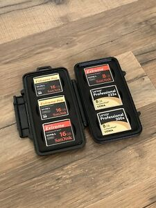 6 SanDisk Extreme Pro Lexar Professional 16/8GB Compact Flash Card With Case