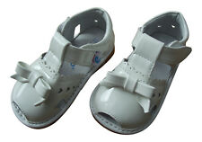 Girl's Infant Toddler Childrens Squeaky Shoes White Patent Leather Sandals