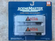 WALTHERS HO 1/87 SCALE DELTA MOTOR LINES 40' TRAILERS 2-PACK ITEM # 949-2302 F/S