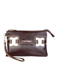Sacs et sacs à main pochette marrons en cuir pour femme