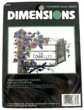 Dimensions Counted Cross Stitch Kit Pleasantly Yours Mailbox Flowers 6718