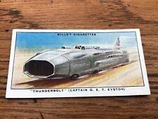 wills cigarette card -  thunderbolt - captain g.e.t. eyston !