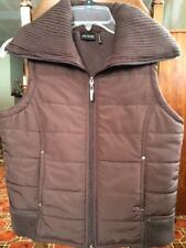 Daisy Fuentes Sport Zip Up Vest, Fleece Lined, Sweater Material Collar & Bottom