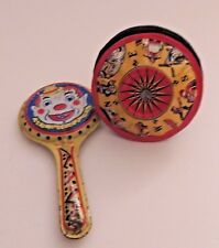 "Kirchhof ""Life of the Party"" Tin Metal Wood Handle & Tin Clown Noise Maker"