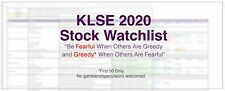 [First 50 ONLY] 2020 KLSE Stock Watchlist - Fight the bear, buy & hold FOREVER!