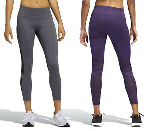 adidas Women's How We Do 7/8 Light Mesh Tights Gym Running Active Sports S M L