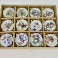 The 12 Days of Christmas Glass Ornament Set Complete NEW