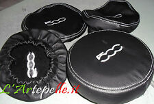 Fiat 500 Coating Liners Genuine Leather Headrest Front+Rear