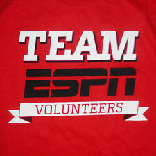 Team ESPN Volunteers T-Shirt Large Serve Sports Fans Cable TV Disney Employees