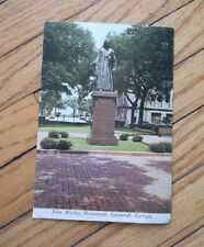 Vintage Postcard of John Wesley Monument Savannah Georgia