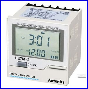 FA Industrial Digital Timer Autonics LE7M-2 Programmable Multi mode