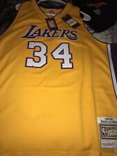 MITCHELL & NESS LOS ANGELES LAKERS SHAQUILLE O'NEAL SWINGMAN JERSEY 2XL
