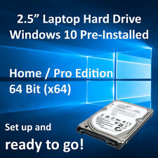 "2.5"" Laptop SATA Hard Drive HDD Windows 10 Home/Pro Pre-Installed + Libre Office"