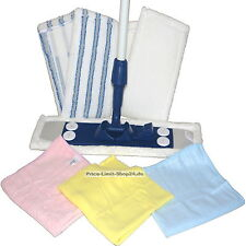 Bodenwischer Set Microfaser Mikrofaser Wischbezug Tücher Tuch Ersatzbezüge 8 tlg