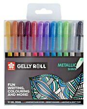 Sakura Gelly Roll Shiny Metallic Gel Pens Set of 12 Colours