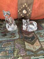 Lenox Crystal Cat Salt and Pepper Shakers