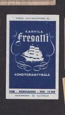 Ancienne étiquette allumettes  Finlande BN79712 Bateau Voilier