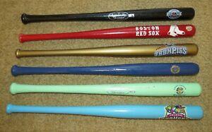"12 Mini Collector Louisville Slugger 18"" Bats Red Sox/Ironpigs/Riverdogs/Mudhens"