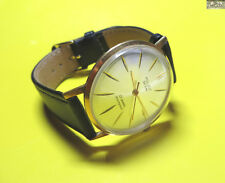POLJOT DE LUXE soviet gold plated watch ultra thin AU 20