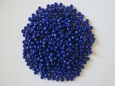 3000+ Fibre Craft Royal Blue Pony Beads with color highlights 6 x 9 mm