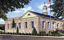 Vintage Original Postcard - The Post Office, Mercersburg, USA