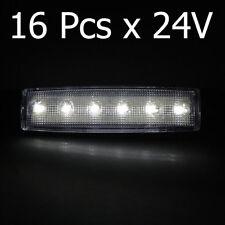 16x White 24V LED Side Marker Rear Lights For Truck Lorry Mercedes Actros Atego