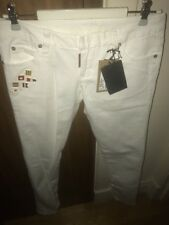 DSQUARED2 White Cotton Blend FlagsJeans IT40 UK8