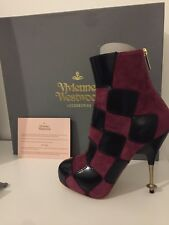 Vivienne Westwood Harlequin Patch BOOTS - Size 4