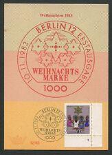 BERLIN MK 1983 707 FN 2 FORMNUMMER!! WEIHNACHTEN MAXIMUMKARTE! MC CM RARE! h1366