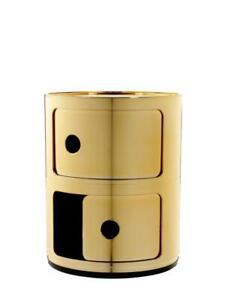 Kartell Componibili Plastic Storage Unit Gold 2 element RRP £177