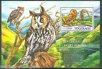 TOGO 2015  OWLS   SOUVENIR SHEET  MINT NH