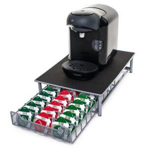 60pc Tassimo Pod Holder, Coffee Capsule Drawer & Machine Stand. Pod dividers