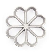 Rosette-Iron Mold, Cast Aluminum, 8 Petal Floral Shape