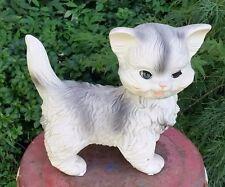 VTG Edward Mobley Cat Squeak Toy Arrow Rubber and Plastics Co  Sleepy Eyes 1960s