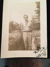 Man in Uniform Billy Wasnick? Army WW2 Home From War?