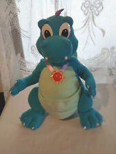 "Disney Dragon Tales Plush 13"" Talking Blue Ord Lights Up Medallion PlaySkool"