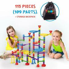 Tomi Toys Marble Run Super Set - 109 Pieces 84 Action Pieces + 25 Glass Marbl...