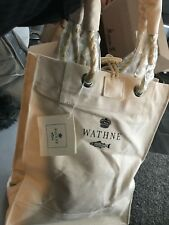WATHNE NATURAL CREAM LARGE STURDY CANVAS SHOPPER TOTE **NEW WITH TAGS**