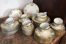 71 Pc 10 Placesetting Antique Moriage Gold Rim Meito Japan Dish Plate Set Wow