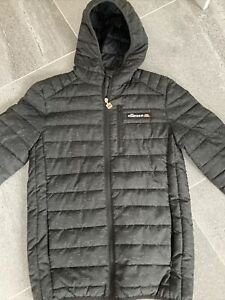 Ellesse Jacket in Black - puffer jacket, puffa jacket, hooded coat Size XS