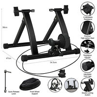 Trainer Indoor Exercise Bike Stand Portable Magnetic 6 Level Resistance Training
