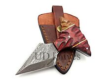 UD CUSTOM HANDMADE 1095 DAMASCUS STEEL  FULL TANG HUNTING KNIFE 453