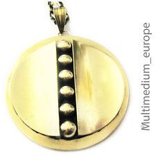 Modernist Anhänger Messing rund Kugel brass pendant round sphere 🌺🌺🌺🌺🌺