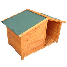Brand New assembled pitch roof dog kennel with porch 128*75*85cm P64s